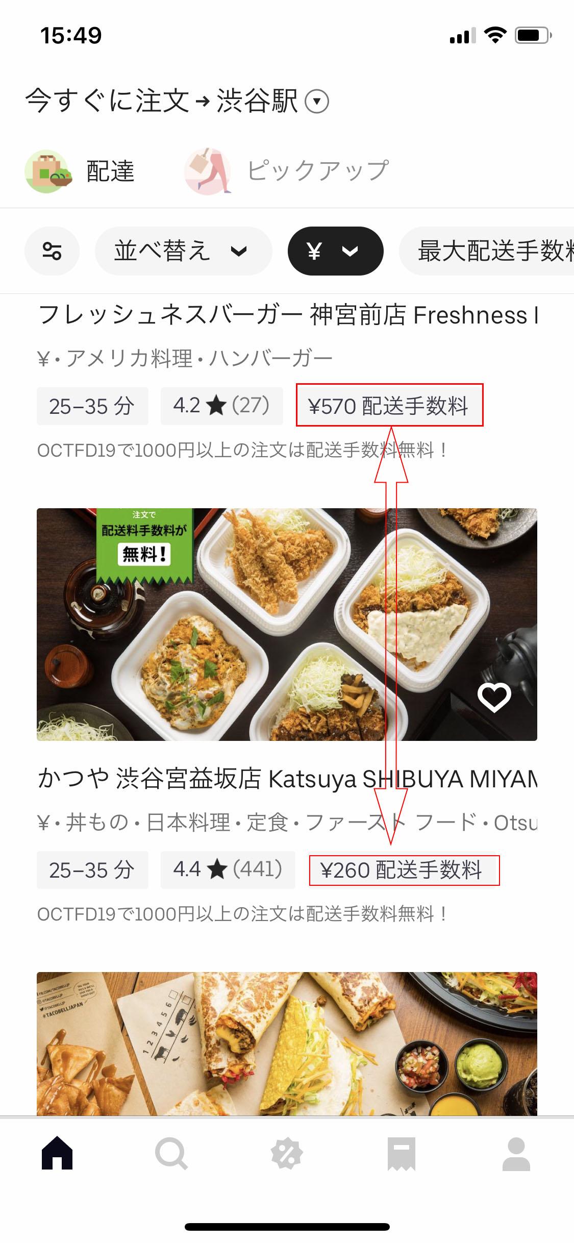 Uber Eats高い