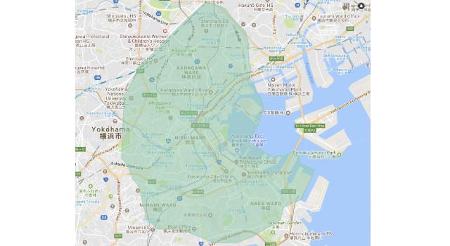 横浜市のウーバーイーツ配達エリア・範囲