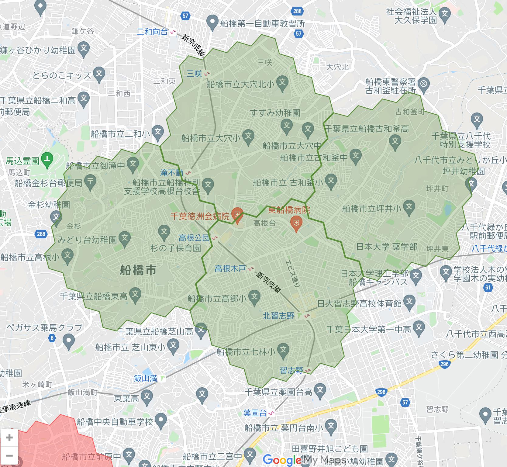 千葉県のmenu(メニュー)対応エリア・配達エリア