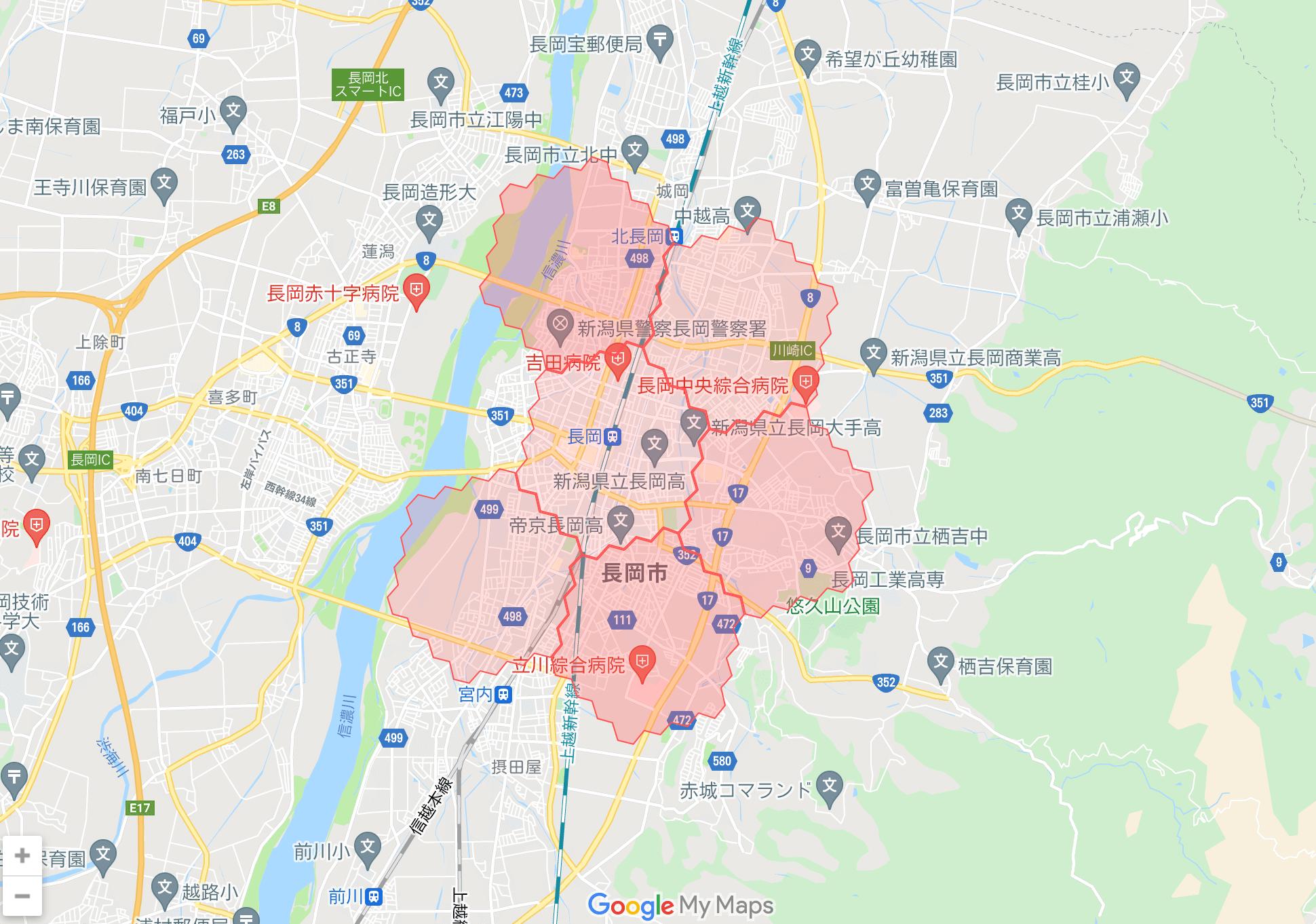 新潟県のmenu(メニュー)対応エリア・配達エリア