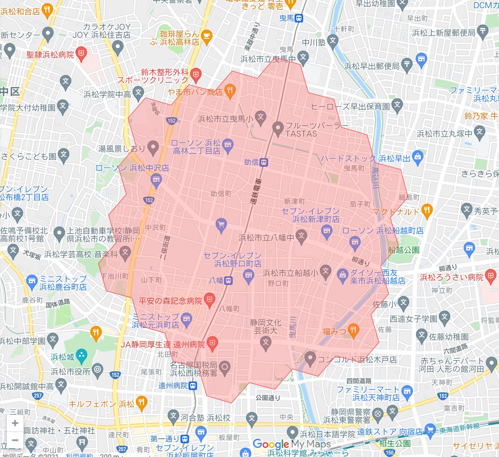静岡県のmenu(メニュー)対応エリア・配達エリア