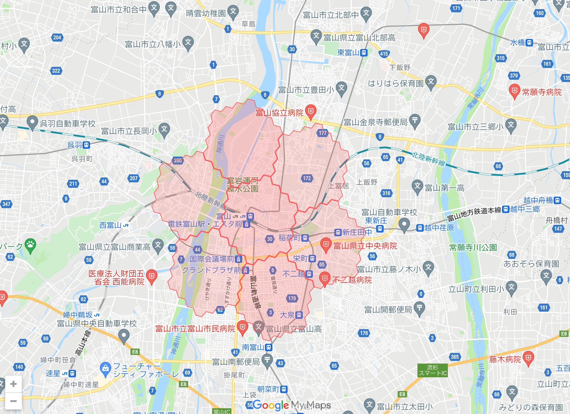 富山県のmenu(メニュー)対応エリア・配達エリア